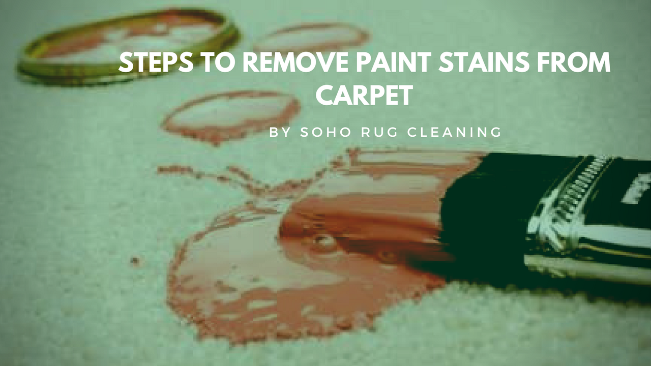 REMOVE PAINT STAINS FROM CARPET NYC