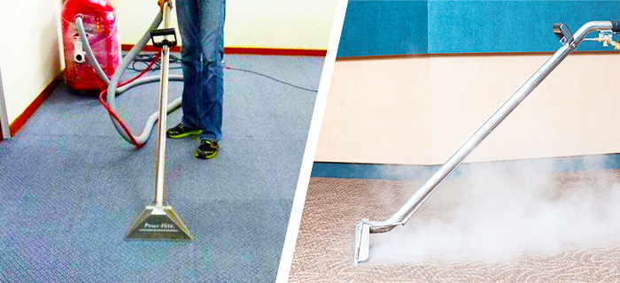 steam cleaning & dry carpet cleaning